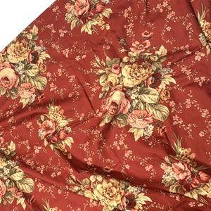 Waverly Sanctuary Rose Curtain Drape Valance Red